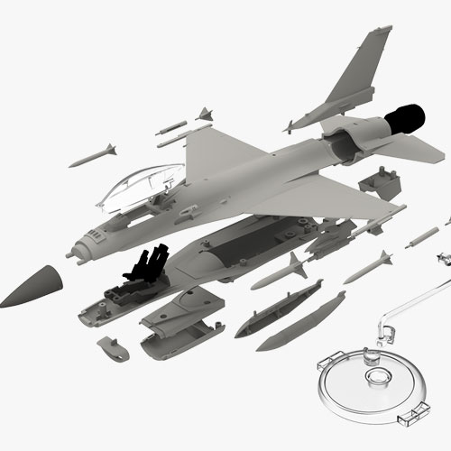 "[1/72] 12541 USAF F-16C ""Multirole Fighter"" MCP"